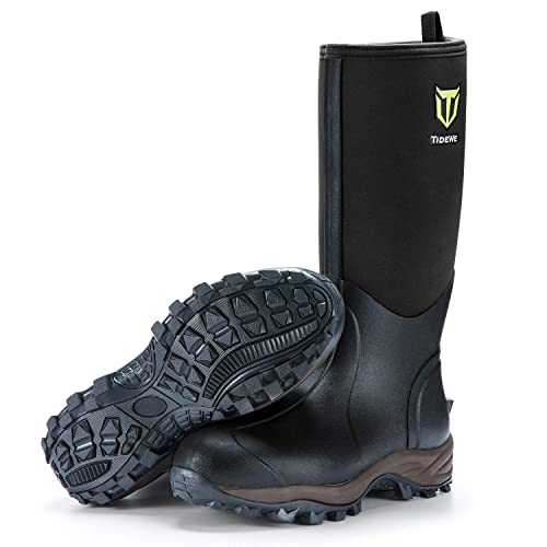 TIDEWE Rubber Neoprene Hunting Boots for Cold Weather