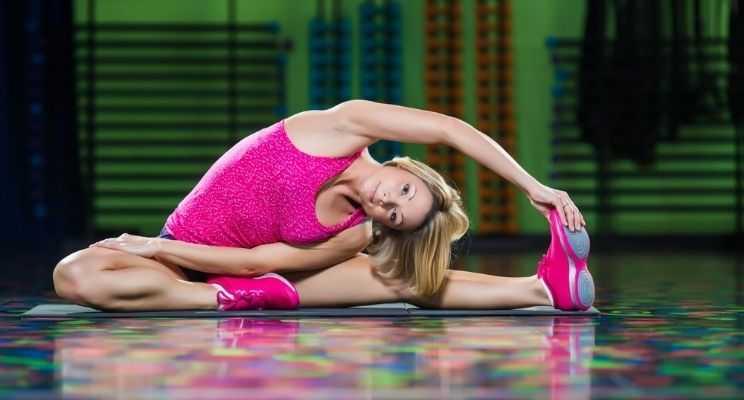 Girl doing Zumba workout