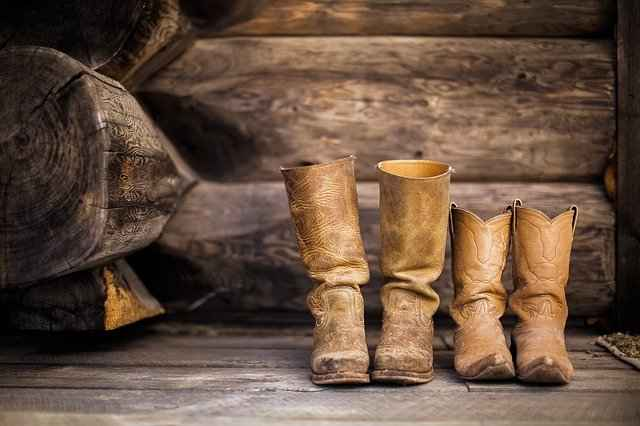 Pair of hunting boots
