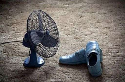 drying shoes with fan